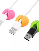 cheap -6Pcs a Bag Cable Organizer Silicone USB Cable Winder Desktop Tidy Management Clips Cable Holder for Mouse Headphone Wire