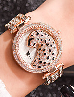 cheap -Women's Quartz Watches Casual Fashion Silver Gold Rose Gold Alloy Chinese Quartz Rose Gold Gold Silver Leopard Casual Watch Cool 30 m 1 pc Analog One Year Battery Life
