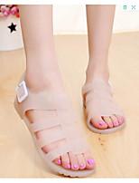 cheap -Women's Sandals Flat Heel Open Toe PU Summer Almond / Black