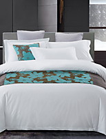 cheap -Duvet Cover Sets 4 Piece Polyester / Polyamide Solid Colored White Printed Simple
