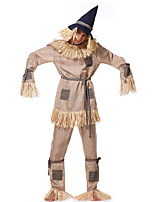 cheap -Scarecrow Outfits Adults' Men's Halloween Halloween Festival / Holiday Polyster Gray Men's Carnival Costumes / Top / Pants / Belt / Hat
