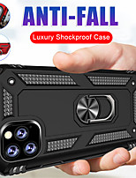 cheap -Case For Apple iPhone 11 / iPhone 11 Pro / iPhone 11 Pro Max Shockproof / Ring Holder Back Cover Armor Silica Gel / PC