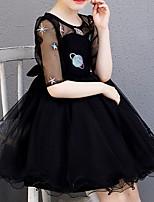 cheap -Kids Girls' Cartoon Dress Black