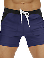 cheap -Men's Swim Shorts Swim Trunks Bottoms Breathable Quick Dry Swimming Beach Water Sports Patchwork Summer / Stretchy