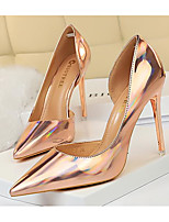 cheap -Women's Heels Stiletto Heel Pointed Toe PU Spring & Summer Light Red / Champagne / Gold