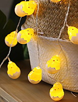 cheap -3m String Lights 20 LEDs 1pc Warm White Easter Day Easter Egg 3 V