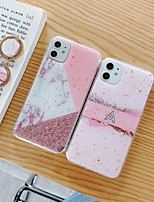 cheap -Case For Apple iPhone 11 11 Pro 11 Pro Max New Marbling pattern glitter powder epoxy glue ring bracket thickened TPU all-inclusive mobile phone case