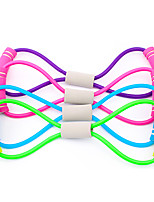 cheap -Exercise Resistance Bands Figure 8 Exercise Cord Rubber Bands 1 pcs Sports TPE Yoga Pilates Exercise & Fitness Adjustable Durable Full Body Strength For Men Women