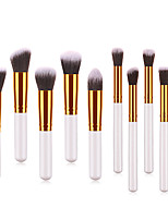 cheap -Professional Makeup Brushes 10pcs Soft Lovely Comfy Goat Hair Brush Aluminium Alloy 7005 / Wooden / Bamboo for Concealer & Base Powders Foundation Blush Brush Makeup Brush Lip Brush Eyeshadow Brush