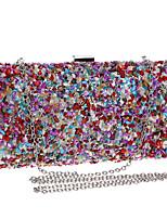 cheap -Women's Chain Acrylic / Polyester Evening Bag Color Block Rainbow