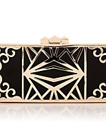 cheap -Women's Chain / Hollow-out Polyester / Alloy Evening Bag Geometric Pattern Black / Gold