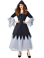 cheap -Witch Outfits Party Costume Adults' Women's Halloween Halloween Festival / Holiday Polyster Black Women's Carnival Costumes / Dress