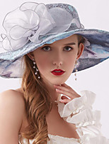cheap -Vintage Style Fashion Tulle / Lace Hats / Headwear with Bowknot / Lace / Printing 1 Piece Wedding / Outdoor Headpiece