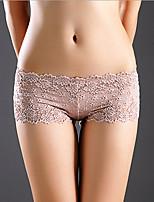 cheap -Women's Basic G-strings & Thongs Panties Mid Waist Wine Purple Blushing Pink One-Size