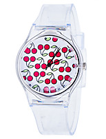 cheap -Women's Quartz Watches New Arrival Fashion White Rubber Chinese Quartz White Red Green Chronograph Cute New Design 1 pc Analog One Year Battery Life