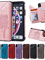 cheap -Case For Apple iPhone XS / iPhone XR / iPhone XS Max Card Holder / Shockproof / Pattern Back Cover Cartoon PU Leather