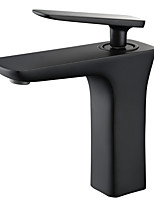 cheap -Bathroom Sink Faucet - Bathroom Black / Chrome Single Handle Deck Mounted Basin Faucets Bath Washroom Sink Mixer Tap