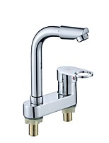 cheap -Kitchen faucet - Single Handle Two Holes Electroplated Standard Spout Widespread Contemporary Kitchen Taps