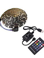 cheap -1m TV Background Light Strip Flexible LED Light Strips RGB Strip Lights 30 LEDs SMD5050 10mm 1 24Keys Remote Controller 1 set Multi Color Waterproof  USB  Self-adhesive 5 V