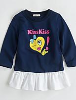 cheap -Kids Girls' Color Block Dress Navy Blue