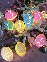 cheap -4pcs 10LEDs 1.5m Easter Eggs String Fair Lights Holiday Patio Christmas Easter Decorations for Home Outdoor Light Garland Balls
