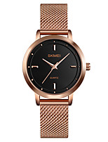 cheap -SKMEI Women's Quartz Watches Casual Fashion Black Silver Rose Gold Stainless Steel Chinese Quartz Rose Gold Silver Black Water Resistant / Waterproof New Design Cool 30 m 1 pc Analog One Year Battery