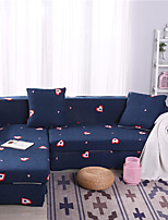 cheap -Cartoon Heart Print Dustproof All-powerful Slipcovers Stretch Sofa Cover Super Soft Fabric Couch Cover with One Free Pillow Case