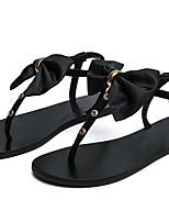 cheap -Women's Sandals Flat Heel Round Toe PU Summer Black / Light Pink