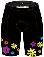 cheap -21Grams Women's Cycling Shorts Bike Shorts Padded Shorts / Chamois Pants Breathable 3D Pad Quick Dry Sports Floral Botanical Black Mountain Bike MTB Road Bike Cycling Clothing Apparel Bike Wear