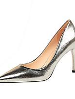 cheap -Women's Heels Stiletto Heel Pointed Toe PU Spring & Summer Black / Champagne / Gold
