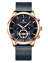 cheap -Men's Sport Watch Automatic self-winding Stainless Steel 30 m Calendar / date / day Chronograph Tachymeter Analog Fashion Cool - White+Blue Black+Gloden Gold One Year Battery Life