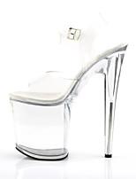 cheap -Women's Sandals Stiletto Heel Peep Toe PU British Summer White