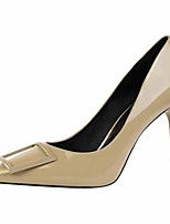 cheap -Women's Heels Stiletto Heel Pointed Toe Faux Leather Casual / Minimalism Spring / Summer Black / White / Yellow