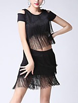 cheap -Latin Dance Outfits Women's Performance Polyester Tassel Skirts