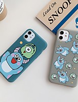 cheap -Case For Apple iPhone 11 / iPhone 11 Pro / iPhone 11 Pro Max Frosted / Pattern Back Cover Cartoon TPU