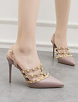 cheap -Women's Heels Rockstud shoes Stiletto Heel Pointed Toe PU Spring & Summer Nude / Purple / Red / Daily / 3-4