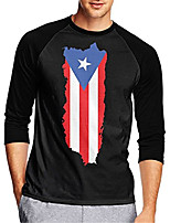 cheap -21Grams Men's Long Sleeve Cycling Jersey Downhill Jersey Dirt Bike Jersey 100% Polyester Black American / USA National Flag Bike Jersey Top Mountain Bike MTB Road Bike Cycling UV Resistant Breathable