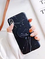 Недорогие -Кейс для Назначение Apple iPhone 11 / iPhone 11 Pro / iPhone 11 Pro Max Защита от удара / со стендом Кейс на заднюю панель Однотонный / Мрамор ТПУ