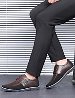 cheap -Men's PU Summer / Spring & Summer Classic / Casual Oxfords Breathable Color Block Black / Brown / Light Brown