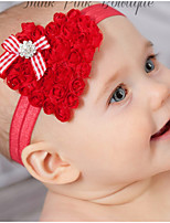 cheap -Kids / Toddler / Newborn Unisex / Girls' Basic / Sweet / Boho Tribal Heart Chiffon Hair Accessories Black / Red One-Size