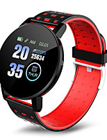 cheap -119 PLUS Unisex Smart Wristbands Android iOS Bluetooth Waterproof Heart Rate Monitor Blood Pressure Measurement Distance Tracking Information Pedometer Call Reminder Activity Tracker Sleep Tracker