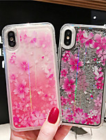 cheap -Case For Apple iPhone XS / iPhone XR / iPhone XS Max Shockproof / Flowing Liquid / Pattern Back Cover Glitter Shine / Flower PC