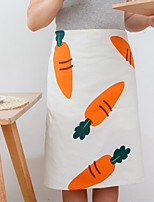 cheap -Easter carrot Kitchen Cleaning Supplies linen apron pinafore 1pc