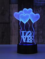 cheap -AUCD 3D Globo En Forma De Corazn Para El Da De San Valentn Lmpara De Luz Nocturna Romntica Lmpara De Acrlico Colorida Para El Hogar Y El Dormitorio 10