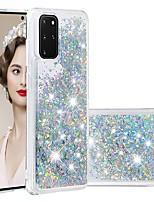 cheap -Case For Samsung Galaxy Samsung Galaxy A50s / Samsung Galaxy A30s / Samsung Galaxy A10s Flowing Liquid / Transparent Back Cover Glitter Shine TPU