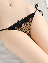 cheap -Women's Lace / Bow G-strings & Thongs Panties Low Waist White Brown One-Size