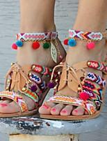 cheap -Women's Sandals Boho Flat Heel Round Toe PU Spring & Summer Yellow