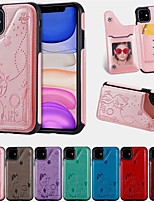 cheap -Case For Apple iPhone 11 / iPhone 11 Pro / iPhone 11 Pro Max Card Holder / Shockproof / Pattern Back Cover Cartoon PU Leather