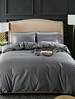 cheap -Duvet Cover Sets 4 Piece Linen / Cotton Solid Colored Purple Printed Simple