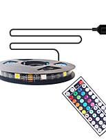 cheap -2m TV Background Light Strip Flexible LED Light Strips / RGB Strip Lights 60 LEDs SMD5050 10mm 1 44Keys Remote Controller 1 set Multi Color Waterproof  USB  Self-adhesive 5 V